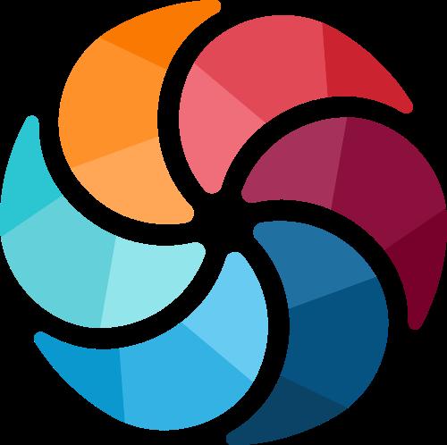 彩色圆摄影互联网相关矢量logo图标矢量logo