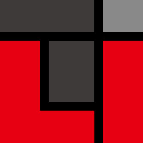 红色方格制造贸易相关矢量logo图标