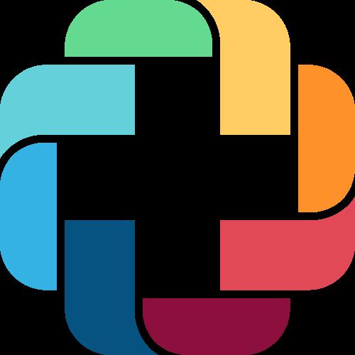 彩色方形十字架应用摄影相关矢量logo图标矢量logo