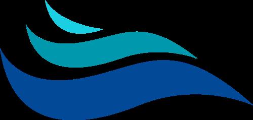 蓝色波浪海洋制造相关矢量logo图标