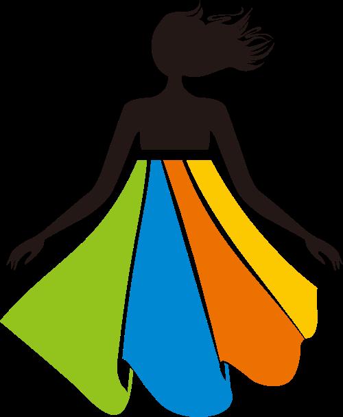 彩色人物服饰相关矢量logo图标