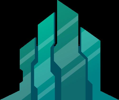 绿色建筑建材家装城市生活相关矢量logo图标矢量logo