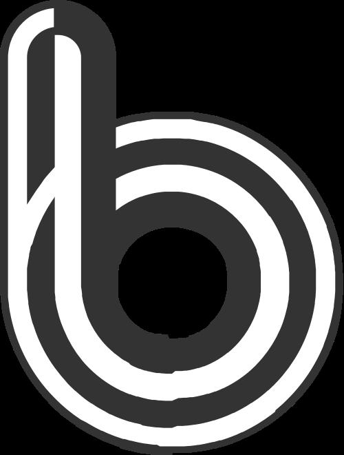 字母b黑色立体音乐影视相关矢量logo图标矢量logo