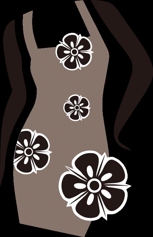 花朵女性裙子服装矢量logo图标矢量logo