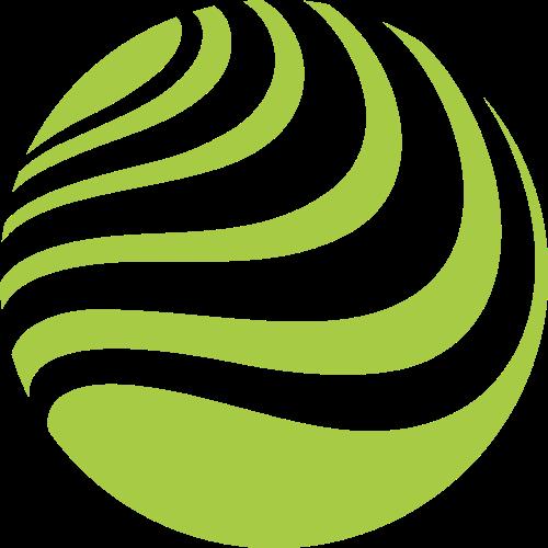 绿色球形互联网文化艺术相关矢量logo图标