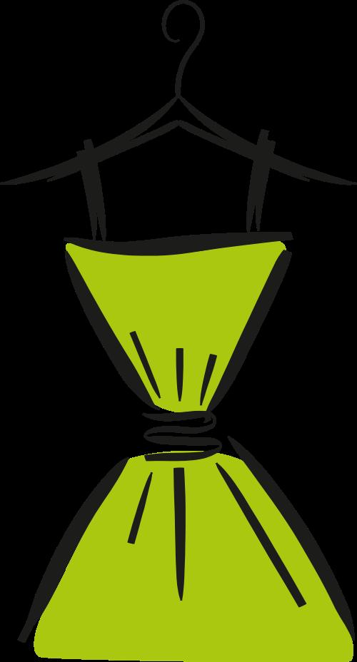 绿色裙子服装服饰女性相关矢量logo图标