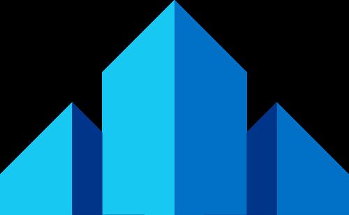 蓝色建筑建材家装城市生活相关矢量logo图标