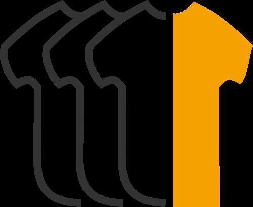 黄色t恤相关矢量logo图标矢量logo