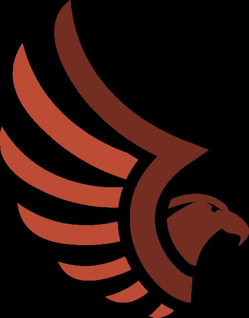 棕色飞鸟矢量logo图标矢量logo