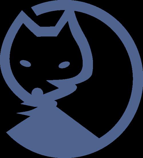 蓝色狐狸动物美容服装皮草相关矢量logo图标矢量logo