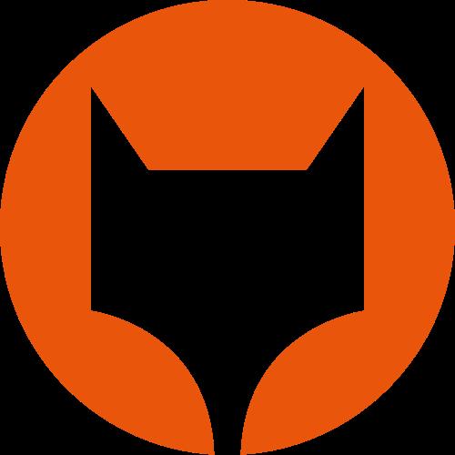 狐狸圆形抽象橙色相关矢量logo图标