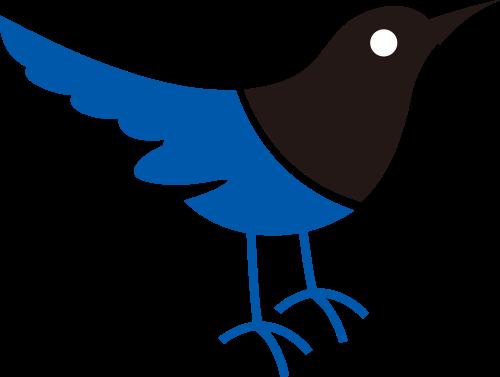 蓝色小鸟服饰服装矢量logo图标