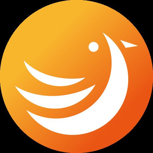 橙色渐变圆形矢量logo图标