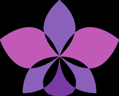 紫色女性花朵美容相关矢量logo图标