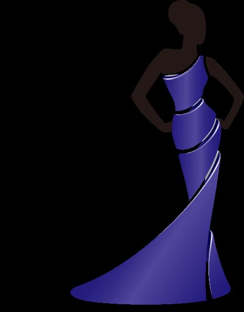 紫色服装女性珠宝礼服相关矢量logo图标矢量logo