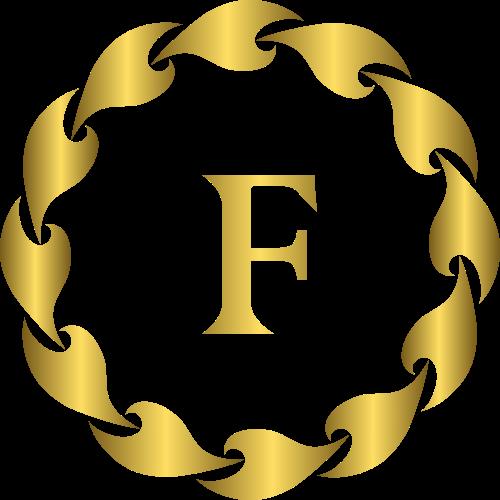 字母F服装商标鞋子包矢量logo图标