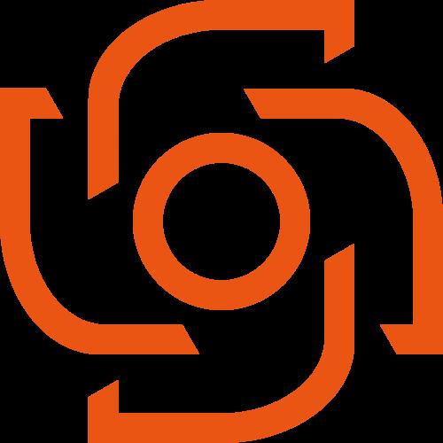 橙色抽象综合相机摄影摄像相关矢量logo图标