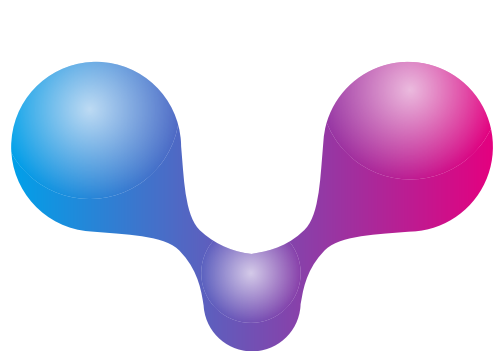 彩色渐变分子矢量logo图标