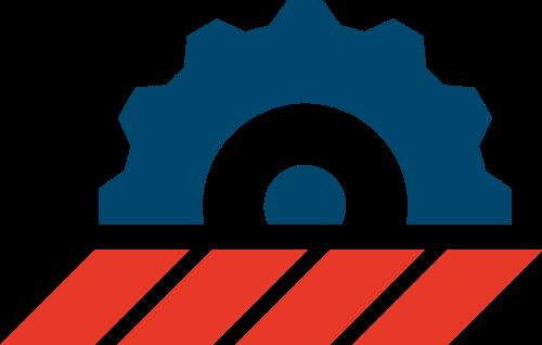 齿轮机械矢量logo图标