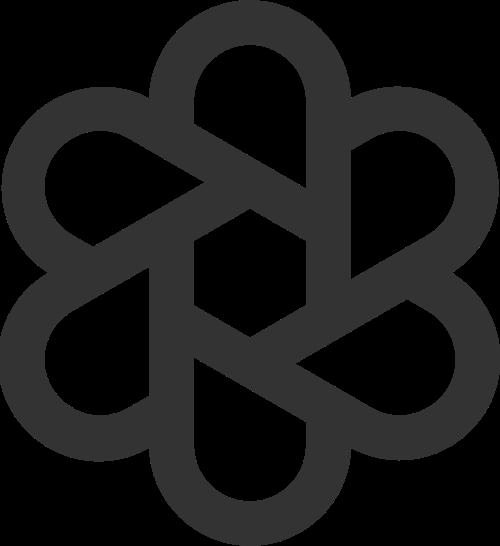 黑色花朵矢量logo图标