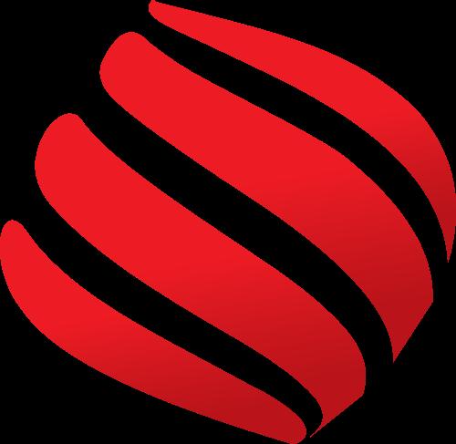 红色科技矢量logo图标