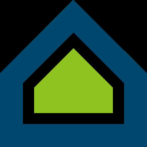 绿色房子房屋矢量logo图标