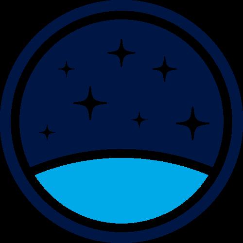 星空圆形矢量logo图标