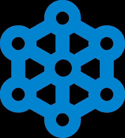 蓝色六边形科技矢量logo图标