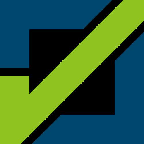 绿色正方形对号矢量logo图标矢量logo