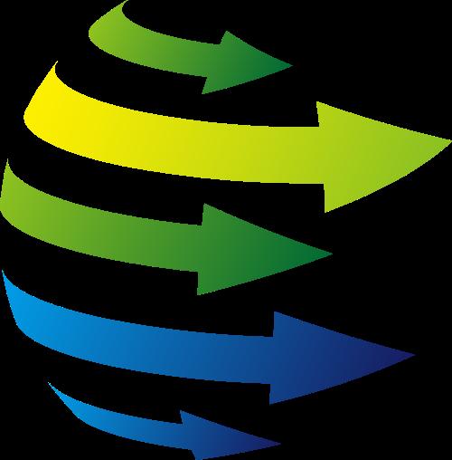 彩色箭头科技抽象矢量logo图标