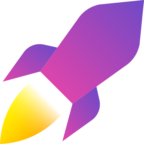 紫色火箭矢量logo图标矢量logo