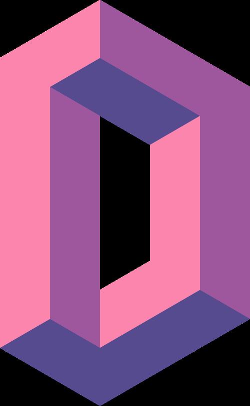 创意字母D矢量logo图标