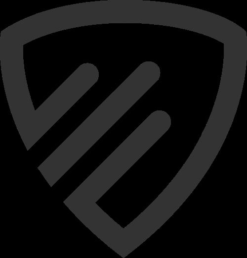 简单黑白三角形盾牌安全相关logo图标矢量logo
