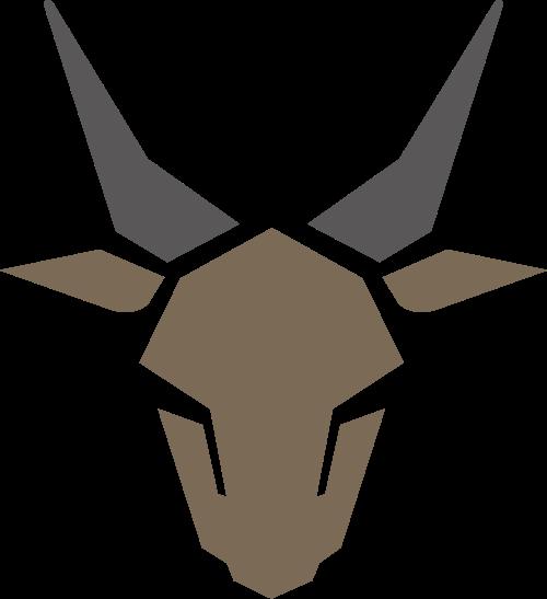 鹿鹿角矢量logo图标