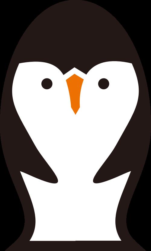 企鹅可爱矢量logo图标