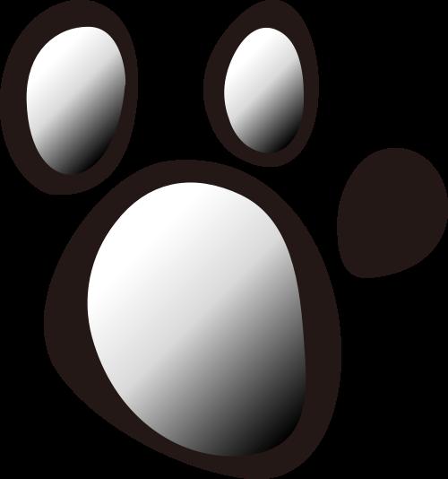 动物爪子矢量logo图标