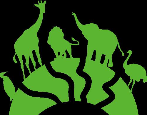 绿色动物矢量logo图标