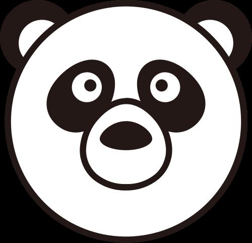 熊猫头像矢量logo图标