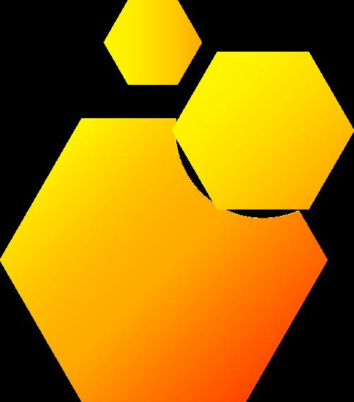 黄色渐变科技矢量logo图标