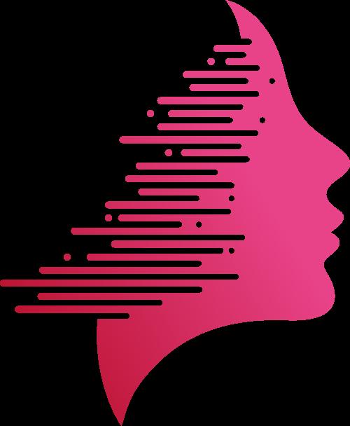 女人头像侧脸矢量logo图标