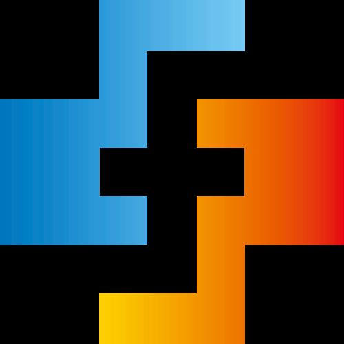 红蓝渐变抽象矢量logo图标矢量logo