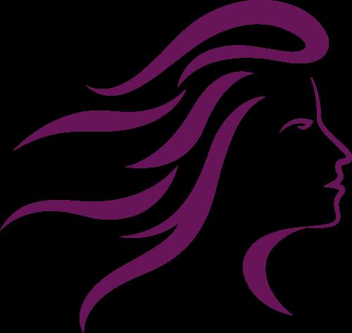 美发女人头像矢量logo图标矢量logo