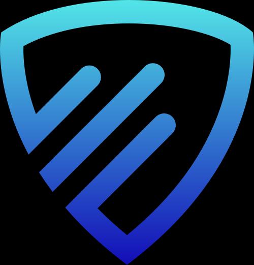 蓝色渐变盾牌矢量logo图标矢量logo