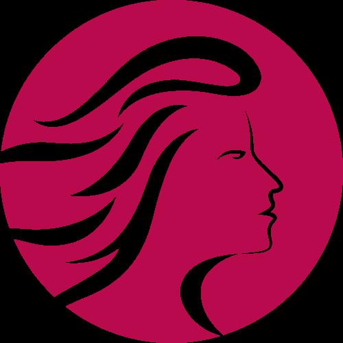 美发造型logo_女性头发矢量logo图标 - LOGO神器