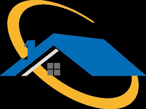 蓝色建筑房屋矢量logo图标矢量logo
