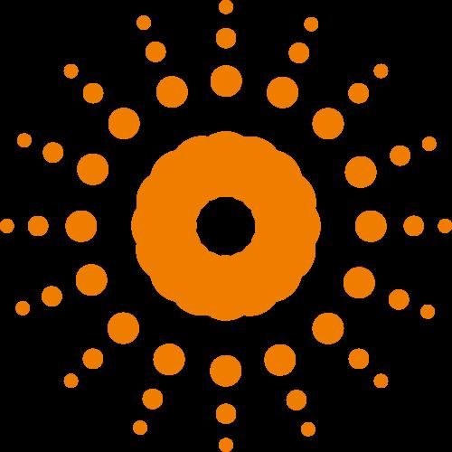 橙色发散太阳矢量logo图标