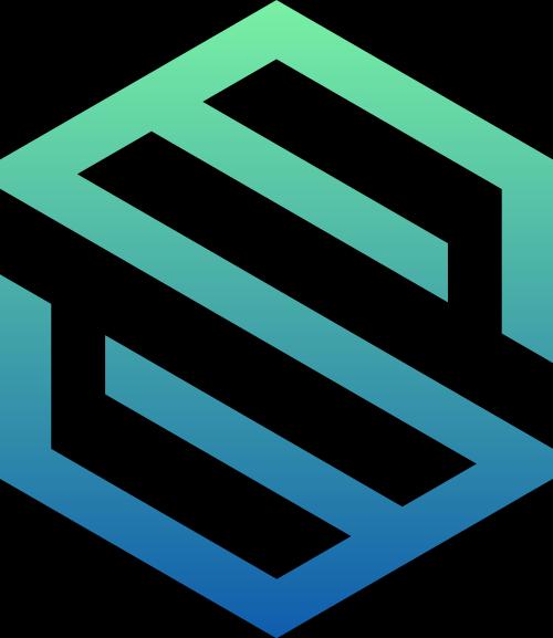 绿色渐变六边形矢量logo图标矢量logo