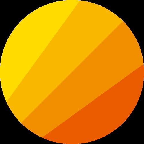 彩色太阳矢量logo图标