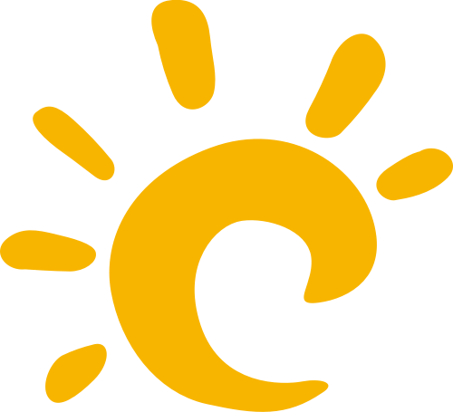 可爱卡通太阳矢量logo图标
