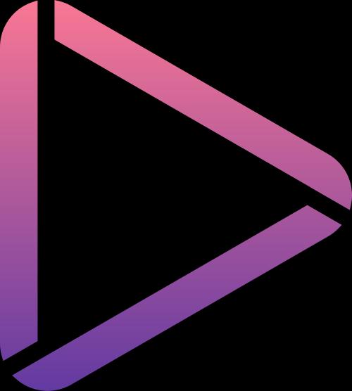 三角视频标志矢量logo图标